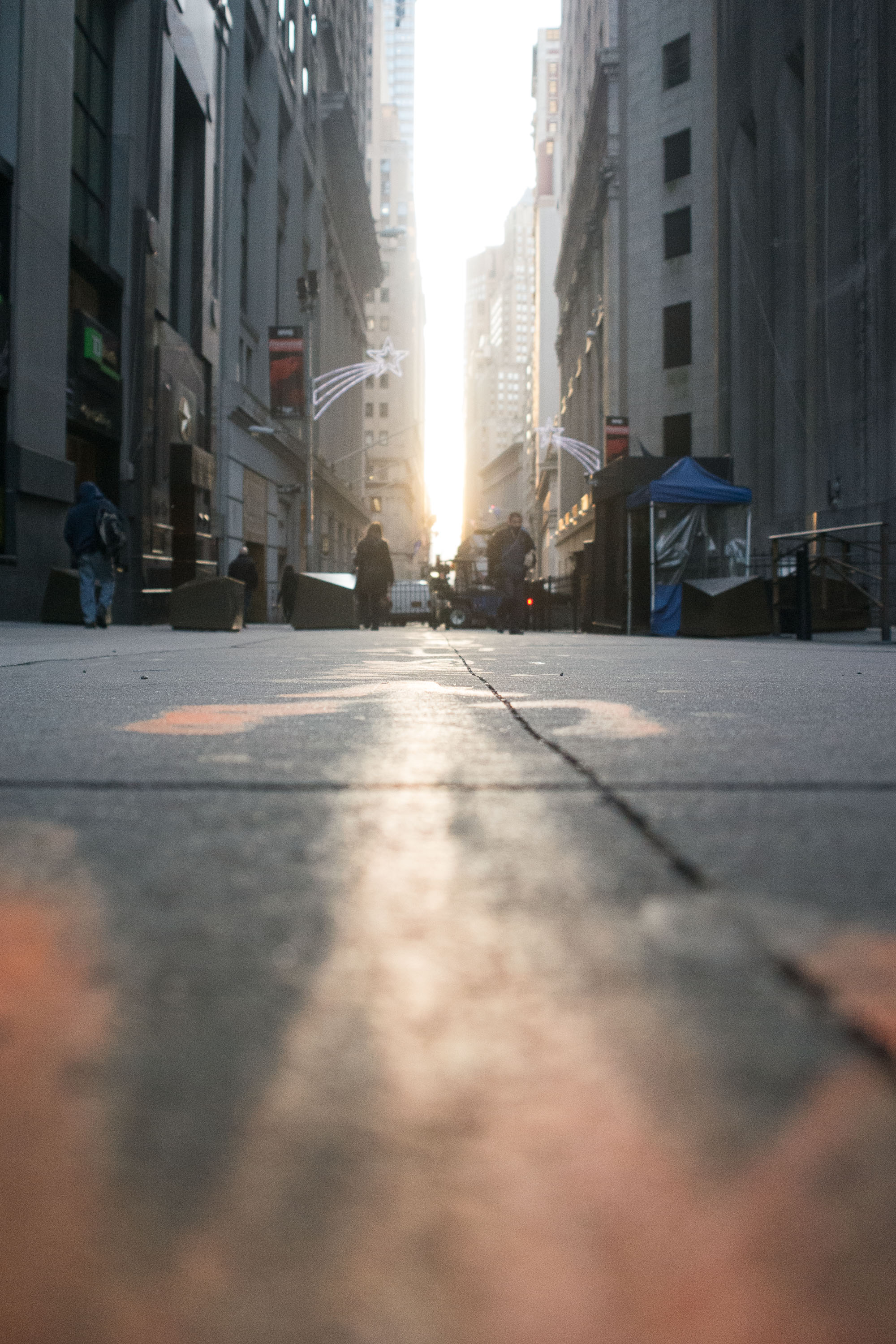 Morning light on Wall Street