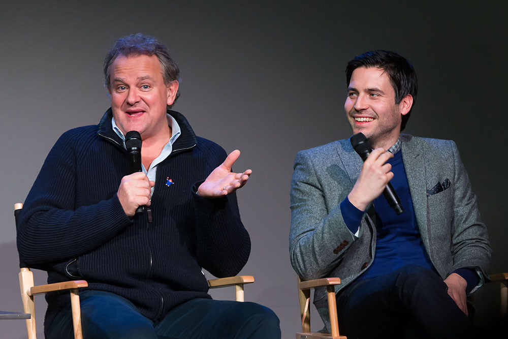 Cast of Downton Abbey visit Apple Store SoHo