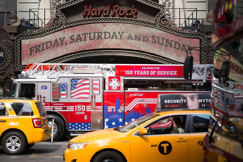 Hard Rock Cafe New York Celebrates FDNY