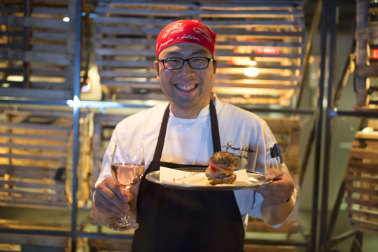 City Harvest Burger Lobster Chef Danny Lee
