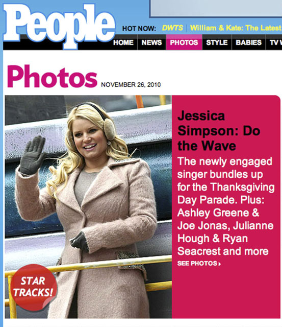 NY Press Photographer Tearsheet Published Professional Photographer New York City Ben Hider jessica simpson