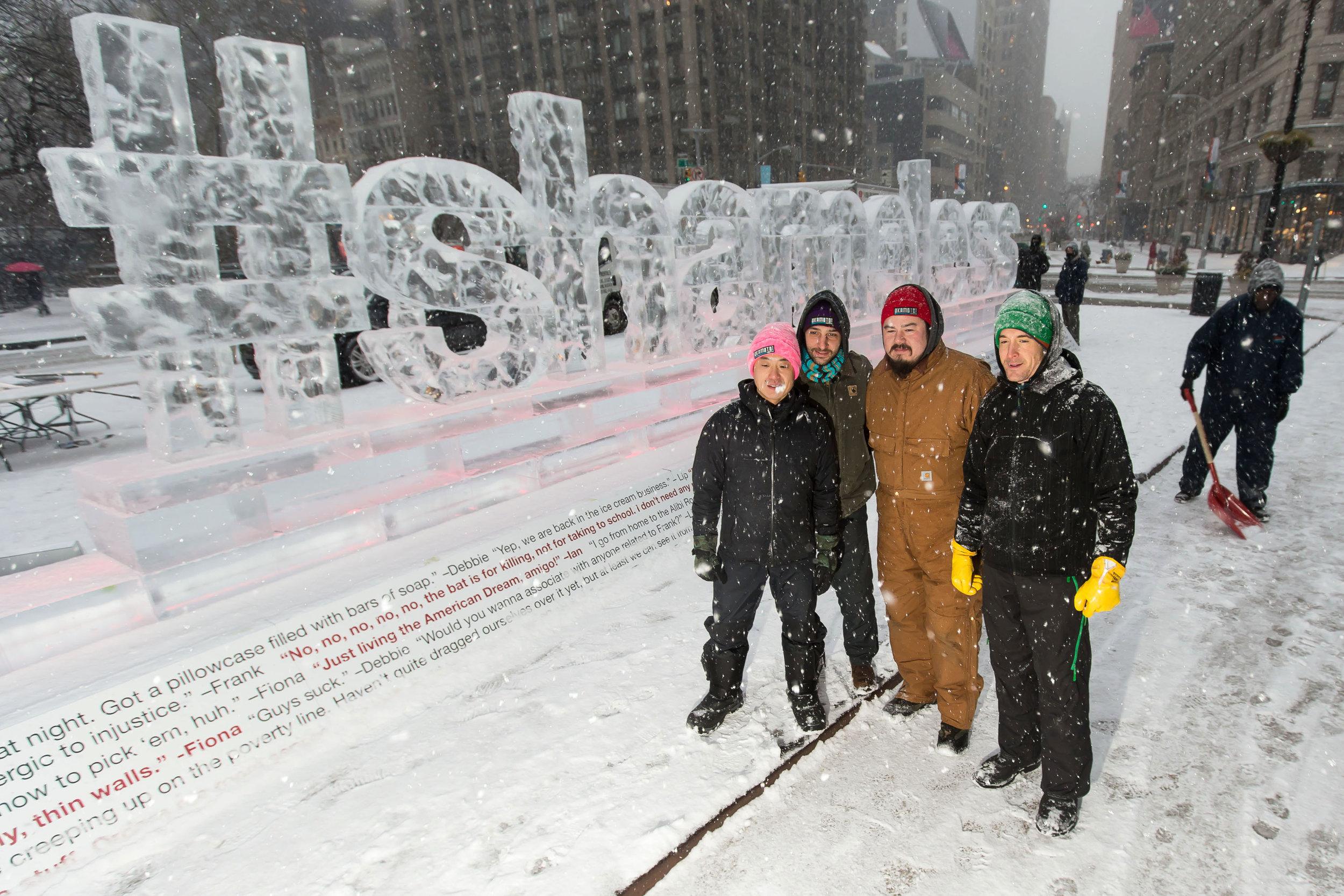 """Shameless"" Ice Sculpture Unveiling"