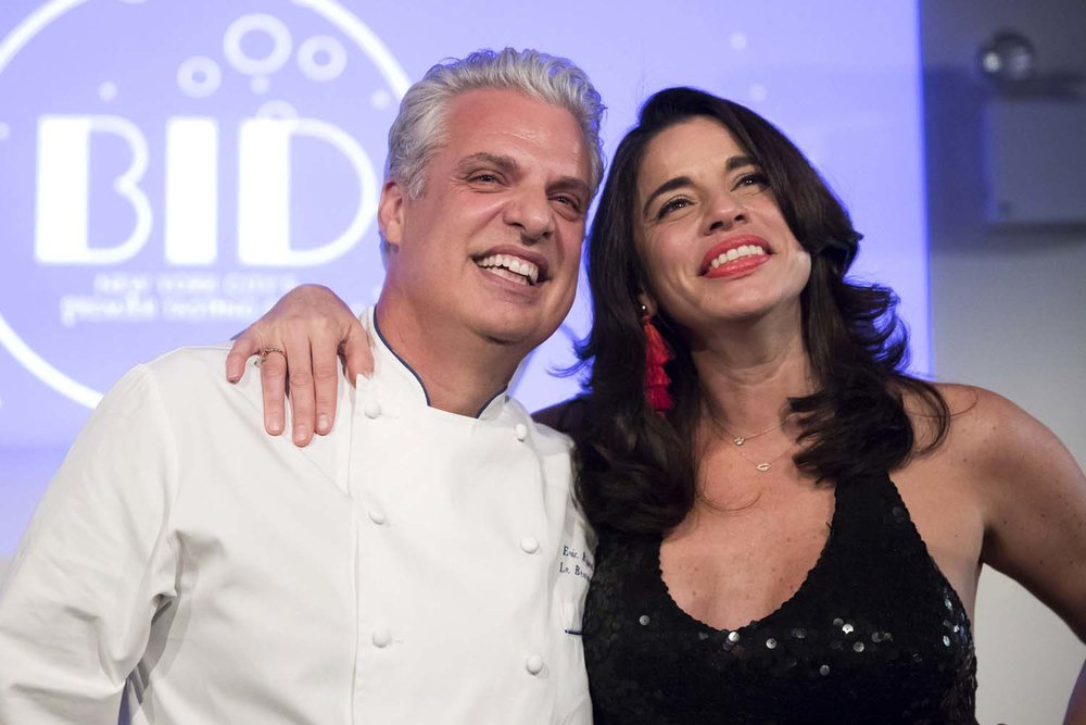 Eric Ripert and Wife at City Harvest
