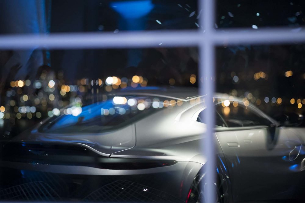 Reflection of New York City Event Photographer Aston Martin Car Launch