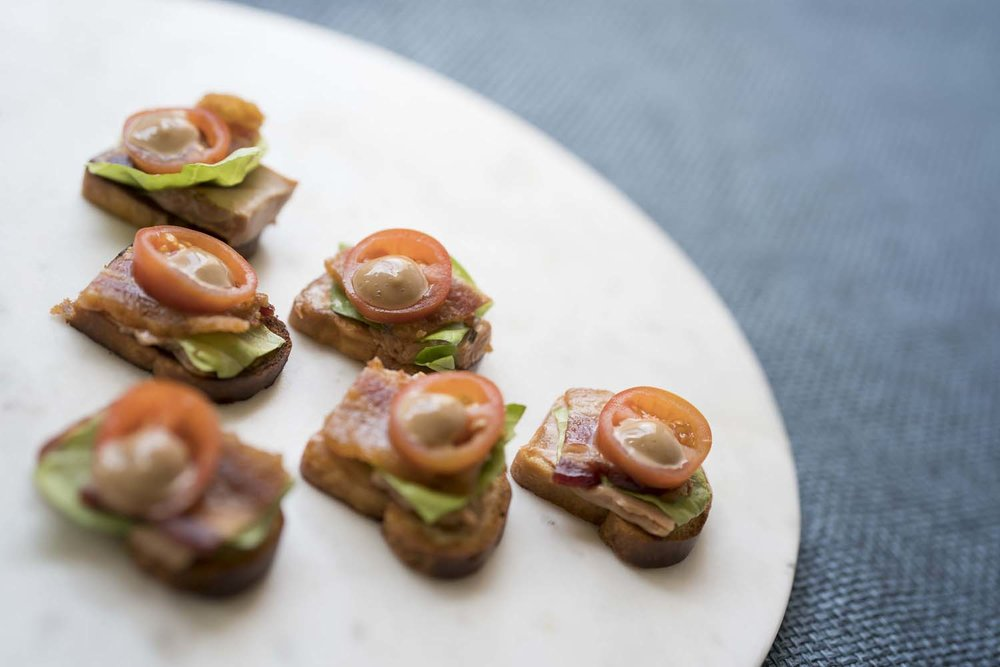 BLT Open Sandwich Food Photographer
