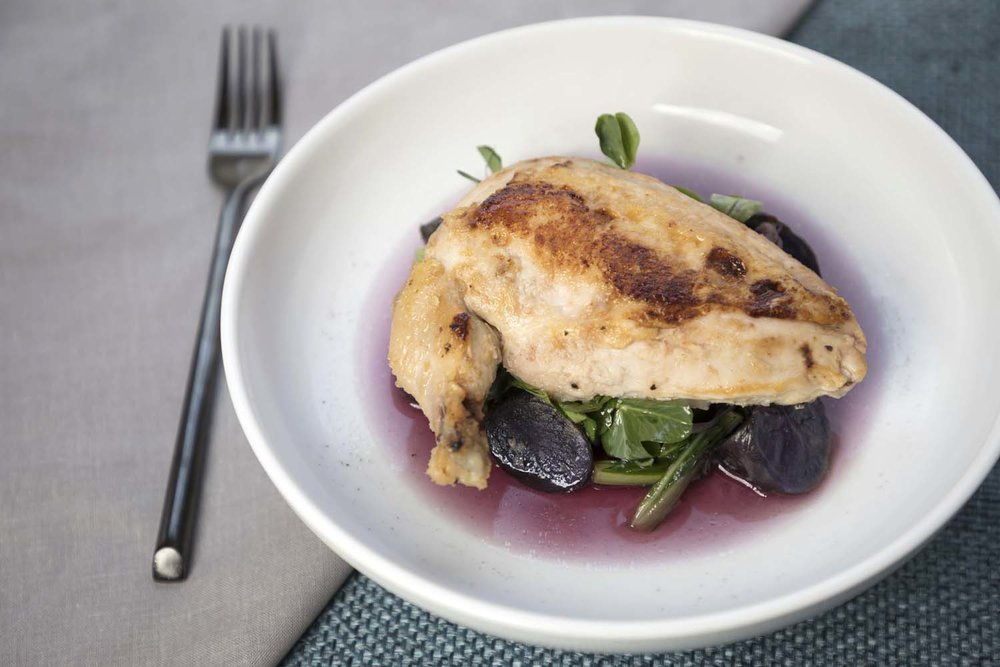 Roast Chicken Dish with Red Wine Sauce