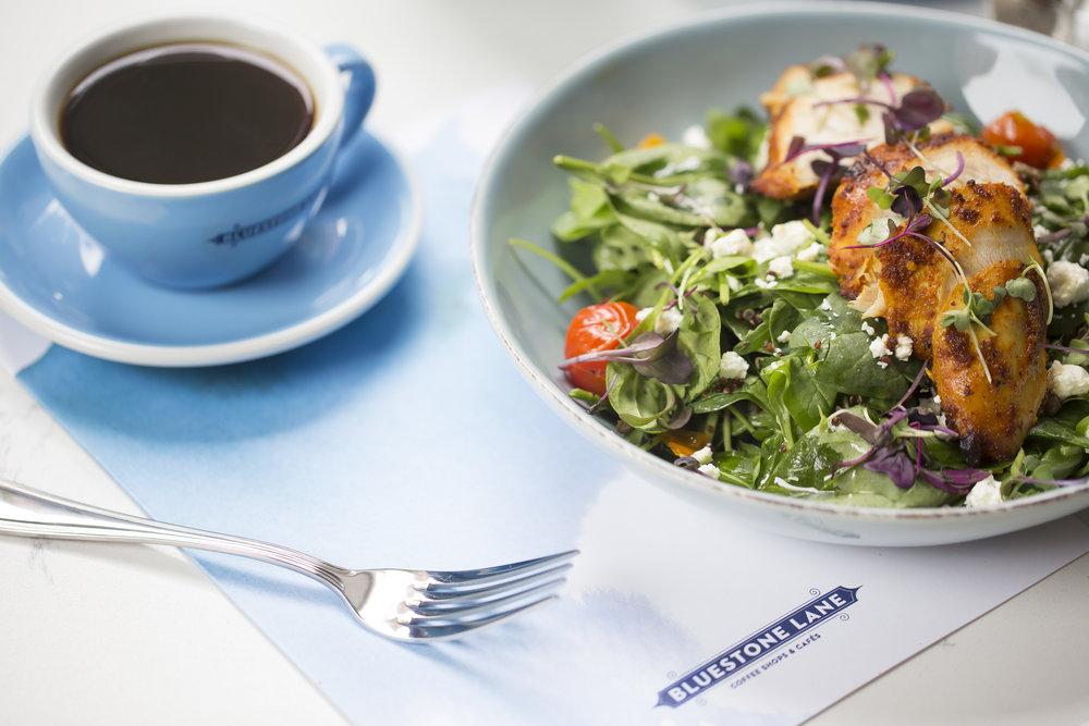 Coffee and Salad Photo