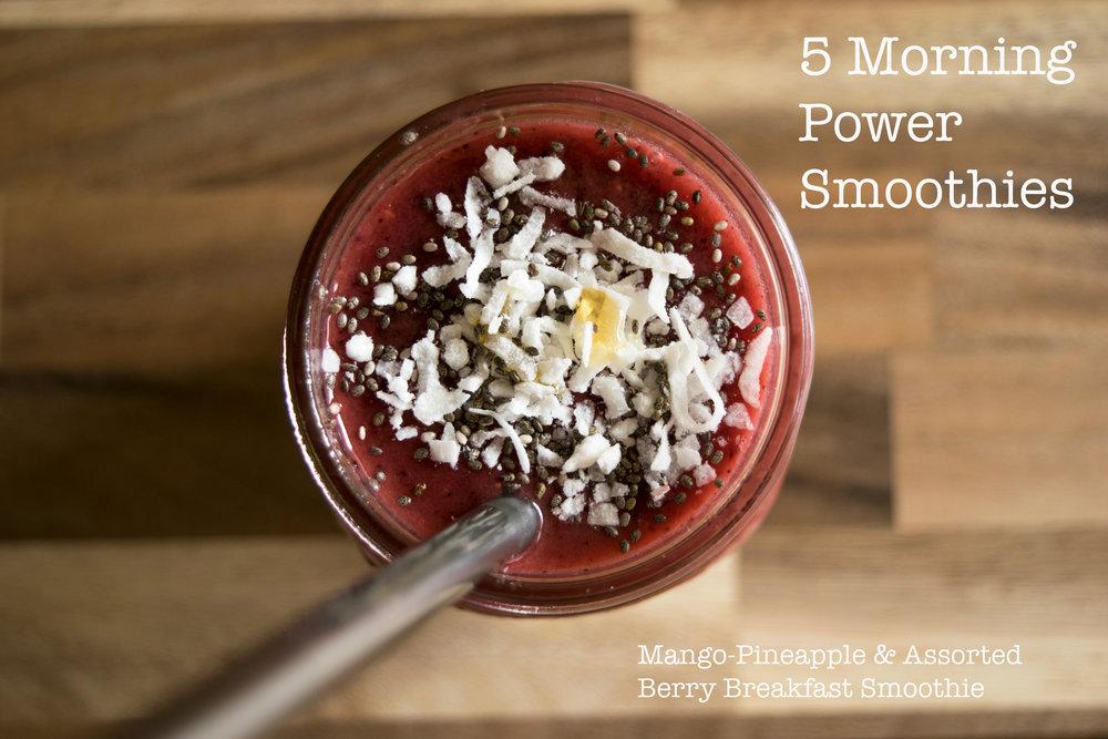 Mango-Blackberry Smoothies - 5 Morning Vegan Power Smoothies