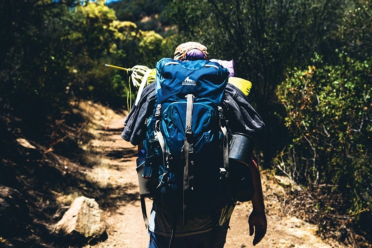 Zachary Slobig hiking between Yerba Buena and Trancas Canyon on the Backbone Trail   Photo by Ryan Orange