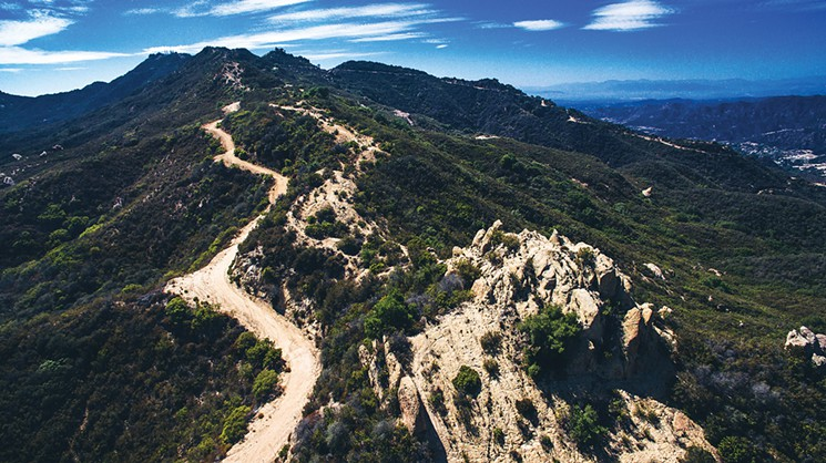 The Backbone Trail as seen from Corral Canyon, headed west  Photo by Ryan Orange
