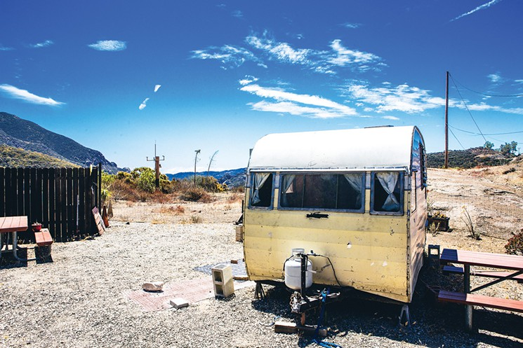 A camper trailer at the Circle X Ranch campground  Photo by Ryan Orange
