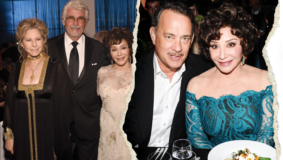 As Beverly Hills royalty, Lynda Resnick regularly rubs shoulders with big-name Hollywood stars, including Barbra Streisand, James Brolin, and Tom Hanks (left to right).   Streisand and Brolin: Stefanie Keenan/Getty Images; Hanks: Stefanie Keenan/Wire Images/Getty Images