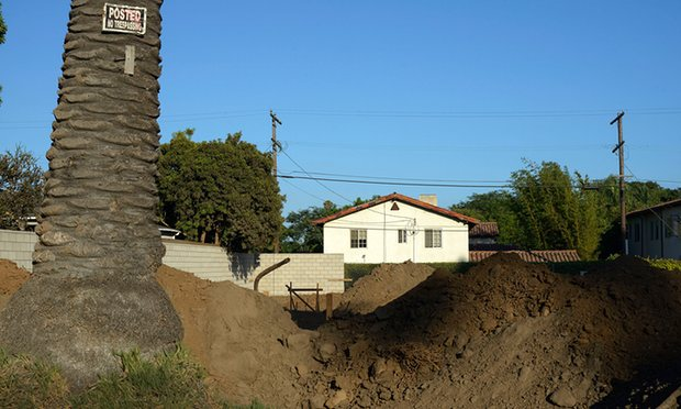 The site of Gehry's future family home. Photograph: Stephen McLaren