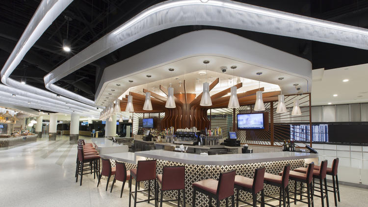 Wolfgang Puck Marketplace includes a pizzeria and a wine bar. (Westfield Airports)