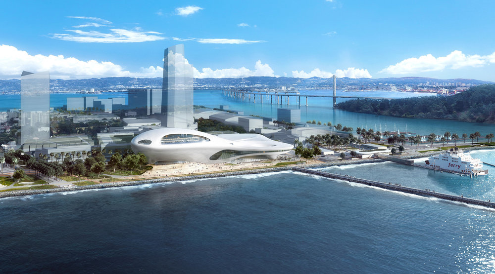 Lucas' Treasure Island plan, for the middle of San Francisco Bay. Lucas Museum of Narrative Art