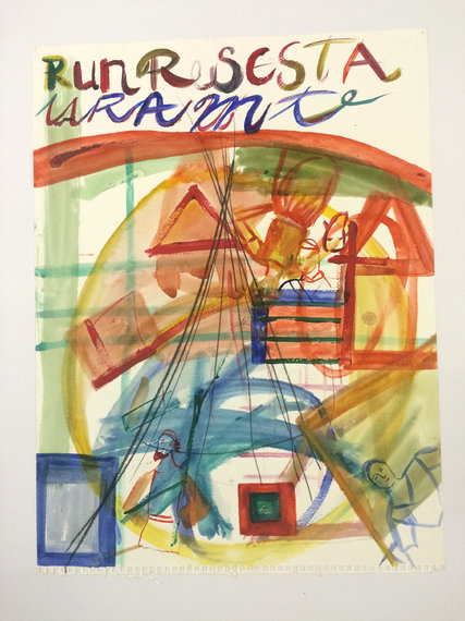 "Susan Cianciolo's ""Untitled"" (2000), watercolor on paper.  CreditCourtesy of the artist and Bridget Donahue, New York, Collection of the artist"