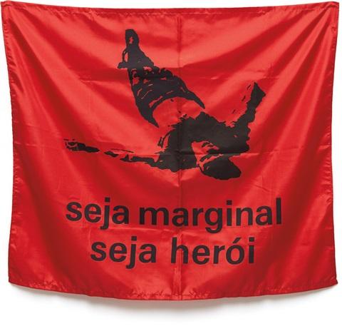 Hélio Oiticica, Seja Marginal, Seja Herói (Be an Outlaw, Be a Hero) , 1968. Image courtesy Wikiart.
