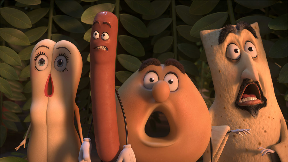 """Did the """"Sausage Party"""" gang help normalize the reaction to Donald Trump's crude remarks on the """"Access Hollywood"""" tape?  (Columbia, Sony Pictures via AP)"""