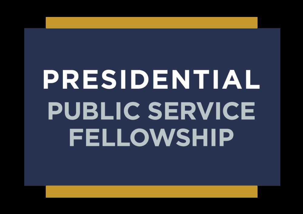Presidential Public Service Fellowship