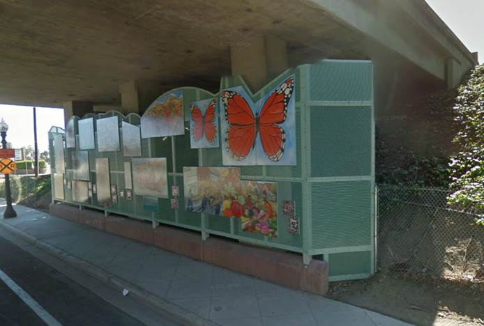 Caltrans' response to project proposed in District 7 was to suggest doing something like this example of artwork which has been approved. The idea to paint channel walls and/or bridges was abandoned at this time.
