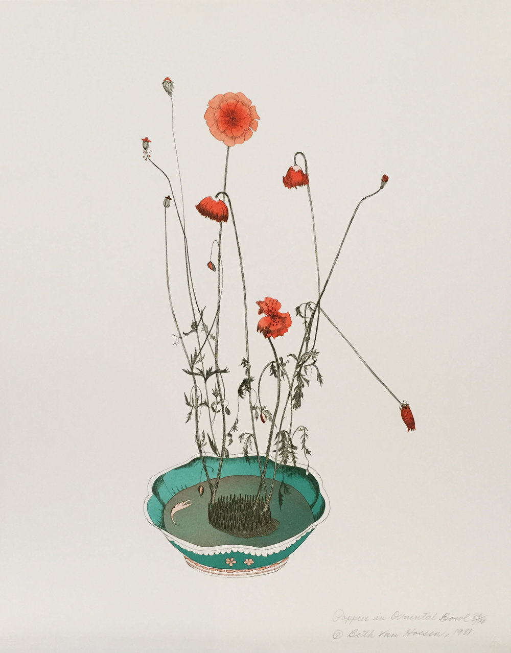 Poppies in Oriental Bowl