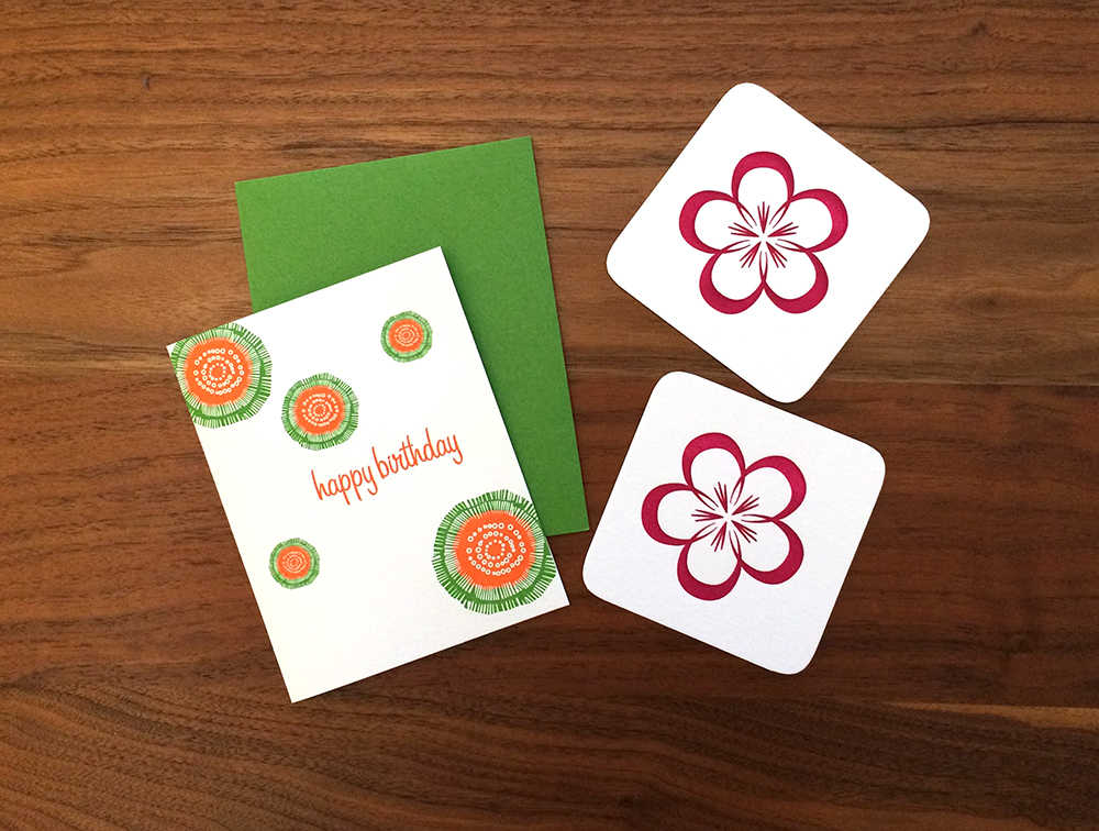 Birthday Card and Dogwood Coasters