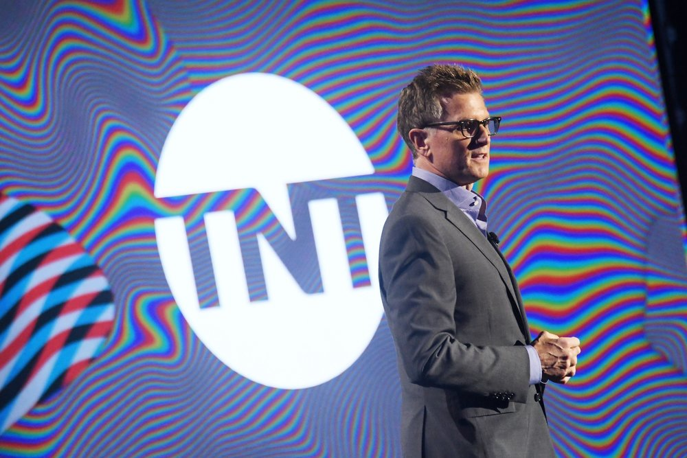 Kevin Reilly , President of TBS & TNT and Chief Creative Officer, Turner Entertainment at the  Turner Upfront 2017  show at The Theater at Madison Square Garden on May 17, 2017 in New York City. (Photo by Mike Coppola/Getty Images)