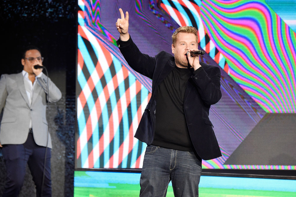 James Corden , Executive Producer of TBS's  Drop the Mic  at the  Turner Upfront 2017  show at The Theater at Madison Square Garden on May 17, 2017 in New York City. (Photo by Kevin Mazur/Getty Images)