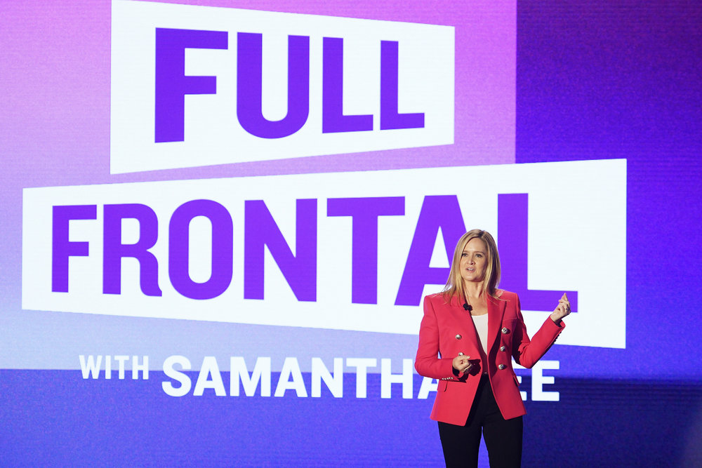 Samantha Bee  of TBS's  Full Frontal with Samantha Bee  at the  Turner Upfront 2017  show at The Theater at Madison Square Garden on May 17, 2017 in New York City. (Photo by Dimitrios Kambouris/Getty Images)