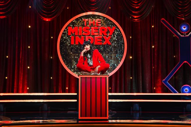 Jameela Jamil hosts TBS' The Misery Index