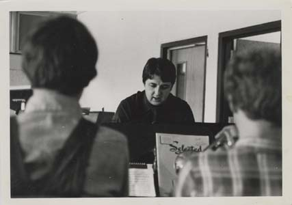George Conducting the Band at Corning-Painted Post West High School. 1976.
