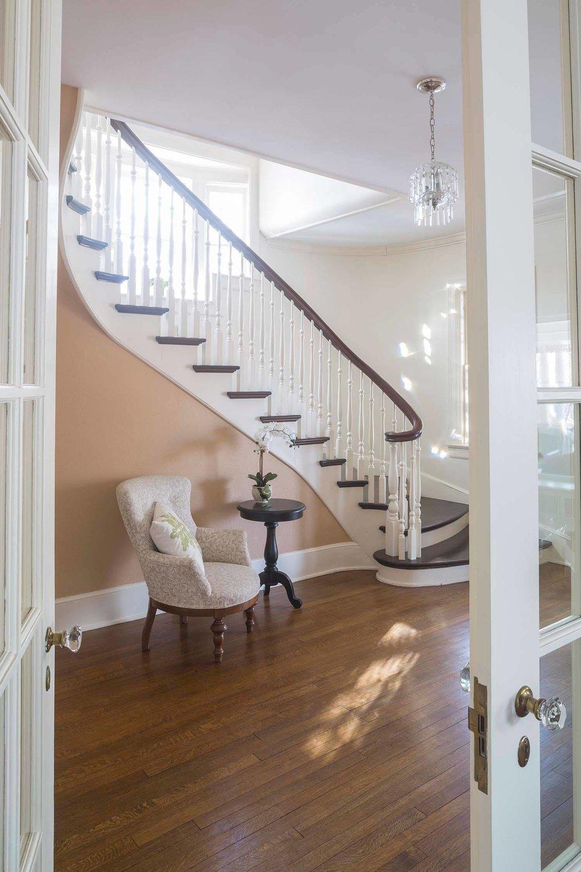 Victorian Staircase Dark Wood