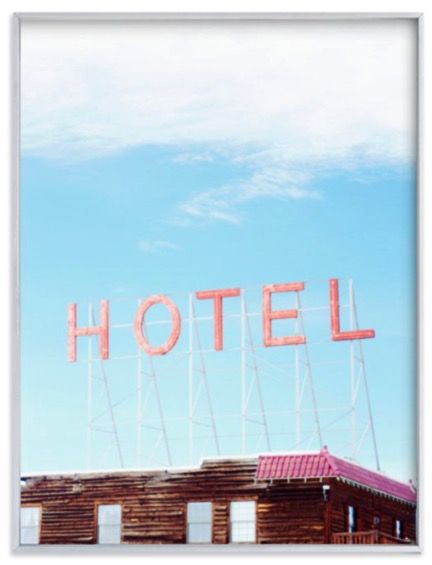 Hotel available at Minted.