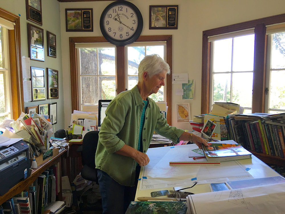 Patricia in her North Berkeley Studio