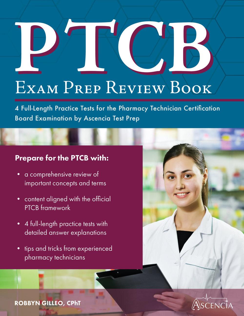 Ptcb Exam Prep Review Book Ascencia Test Prep Study Guides
