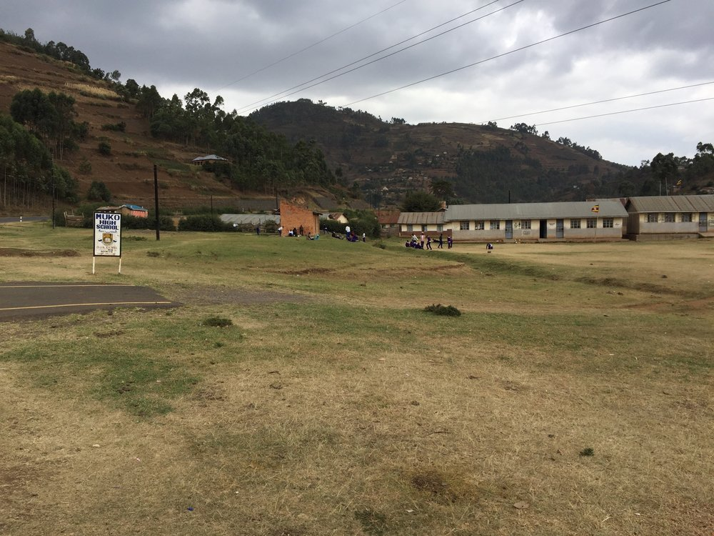Muko High School - many of the buildings are behind what you see