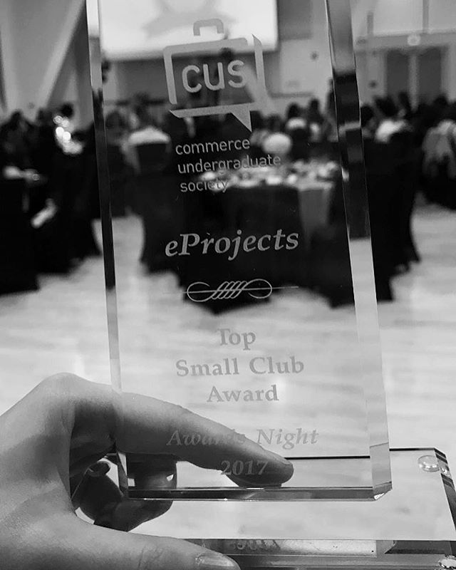 What an honour. Top Small Club of the Year Award at CUS Awards Night two years in a row.