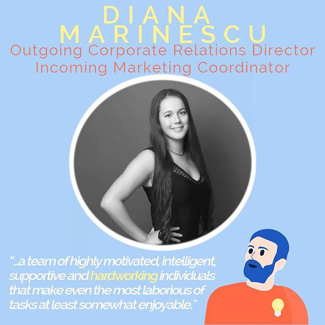 4 DAYS LEFT OF HIRING! Check out the link in our bio for details to apply 💫 ✏️Diana Marinescu 💡Outgoing Corporate Relations Director 💛Incoming Marketing Coordinator 🚀 I'm extremely fortunate to have spent yet another wonderful year on the eProjects team. We've thrown multiple events, hosted numerous workshops, and contributed to the entrepreneurial scene and Vancouver; all while working together and becoming an even stronger team. We worked hard, we hustled, we rejoiced, we laughed (sometimes too much) and most importantly, we had fun. This is definitely one of the many reasons that eProjects will always have a special place in my heart. We are not just another university club, but a a team of highly motivated, intelligent, supportive and hardworking individuals that make even the most laborious of tasks at least somewhat enjoyable. Where there is a challenge, a novelty that has never been attempted before, there are challenges. And this is where most of the learning happened. It was not a particular moment, but rather the culmination of every experience that brought the most learning for me personally. The challenges we all faced were dampened due to the enduring support that eProjects never fails to provide. A special shoutout to this year's teammates and a warm welcome to all of us continuing or joining us next year. You are all the brightest lightbulbs out there. 🚀  Favourite moment? 😯 I'm thankful for all the moments I've shared with the eProjects team. That being said, the most memorable moment was the mansion retreat: we really got to know each other and it's like we became a big family.