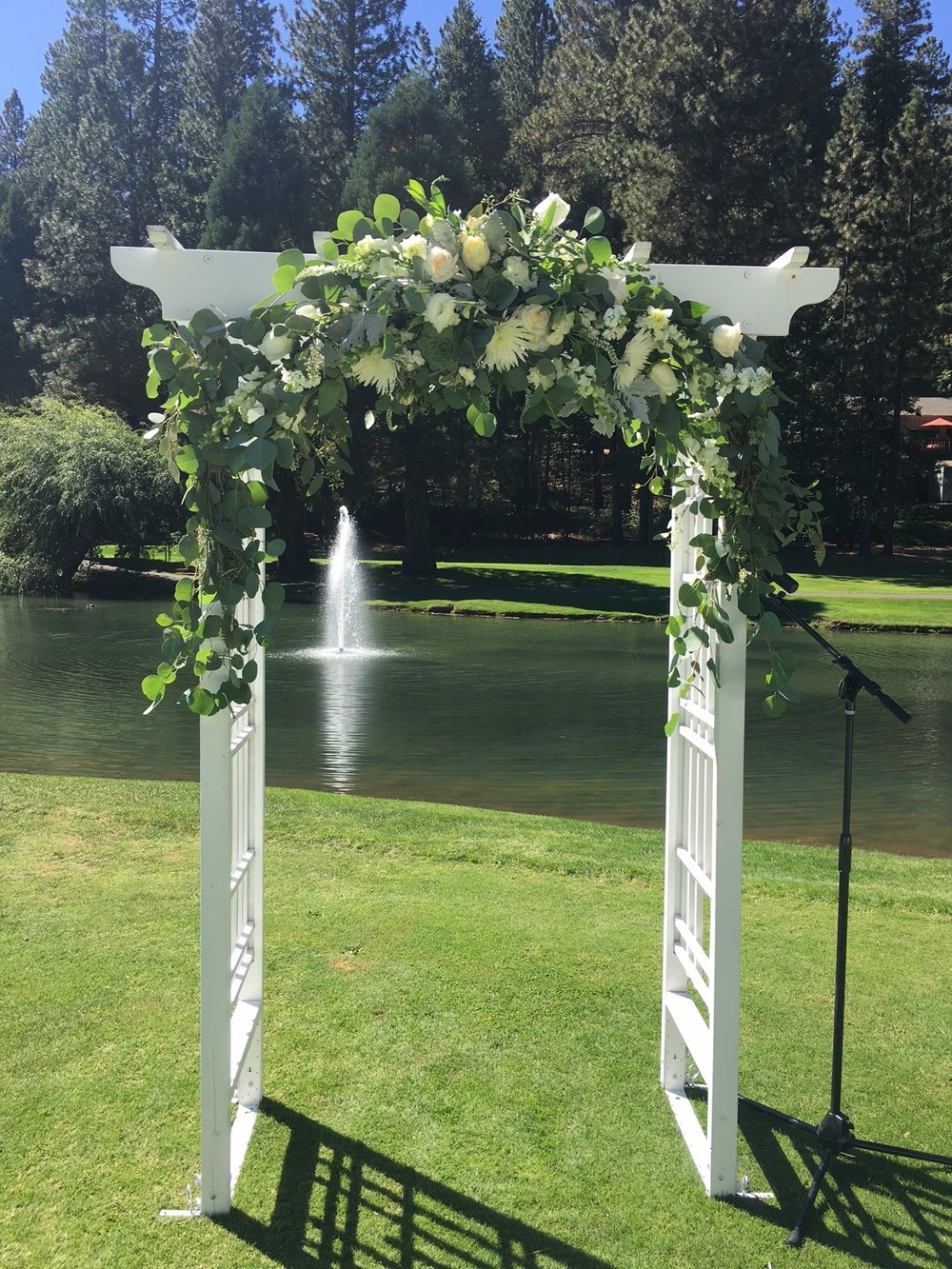 Wedding at Sequoia Woods - Arnold. Structure supplied by wedding party.
