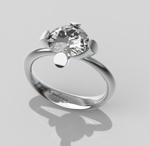 Diamond Engagement Ring in Platinum or White Gold
