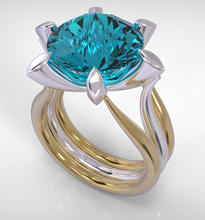 Paraiba Tourmaline Engagement Ring