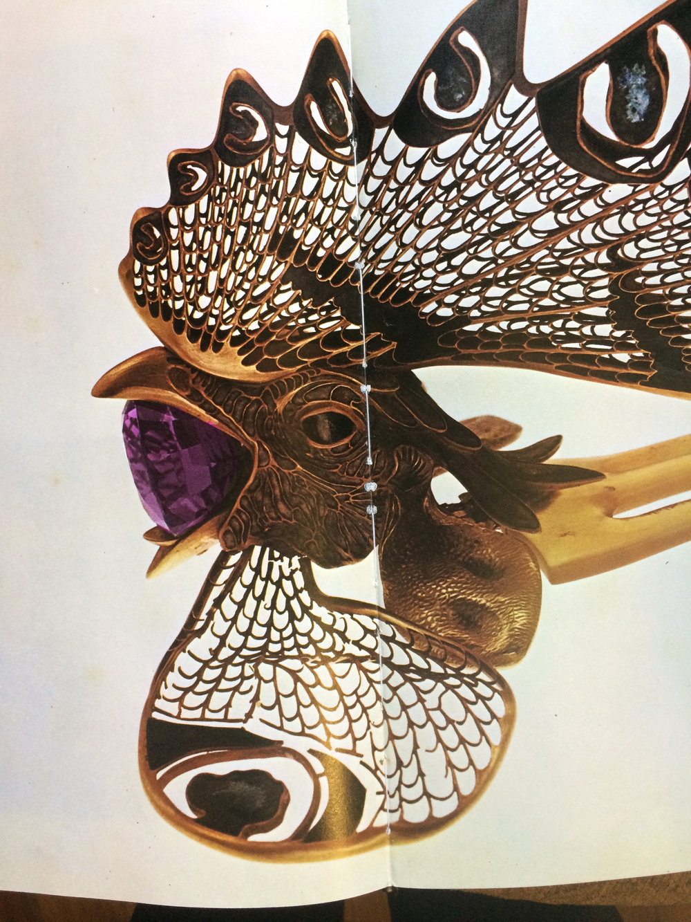 Exquisite translation of nature with breathtaking materials and technique in this Cock's Comb by René Lalique from a picture book of mine owned since high school in Santa Barbara California