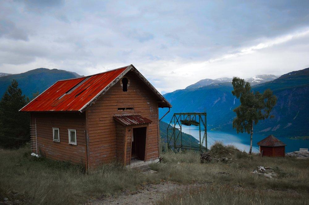Dette bildet er tatt på Harastølen i Luster kommune, utenfor Sanatoriet i Luster.