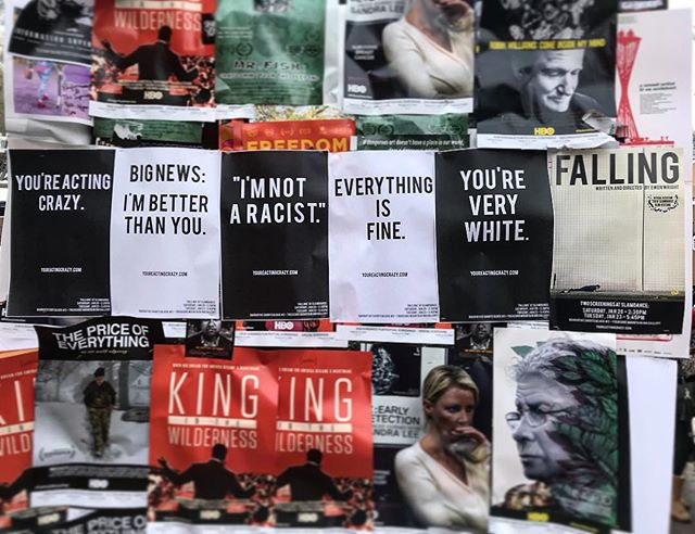 Poster wars.  #slamdance2018 #fallingthefilm