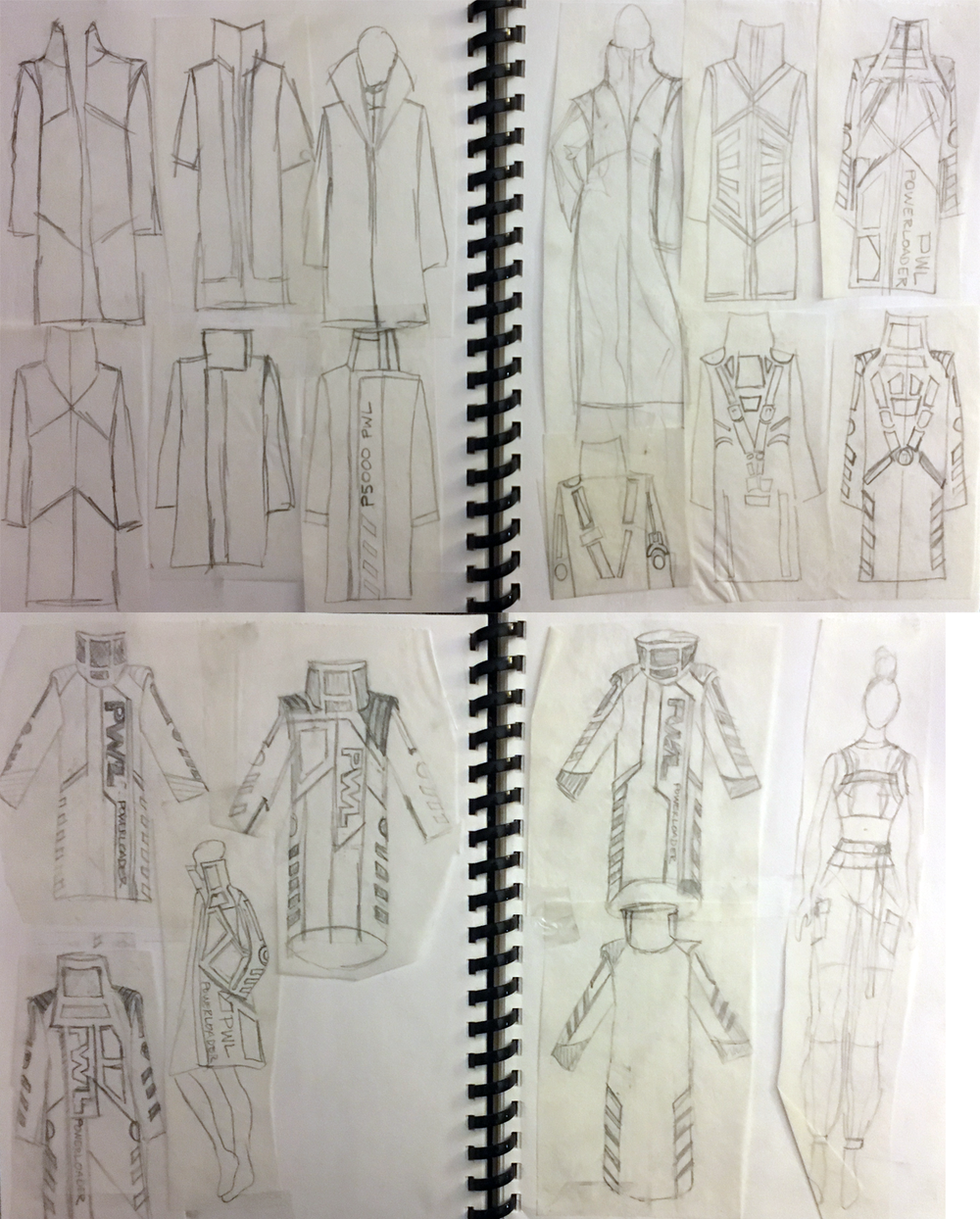 Iteration Examples for my Aliens Jacket