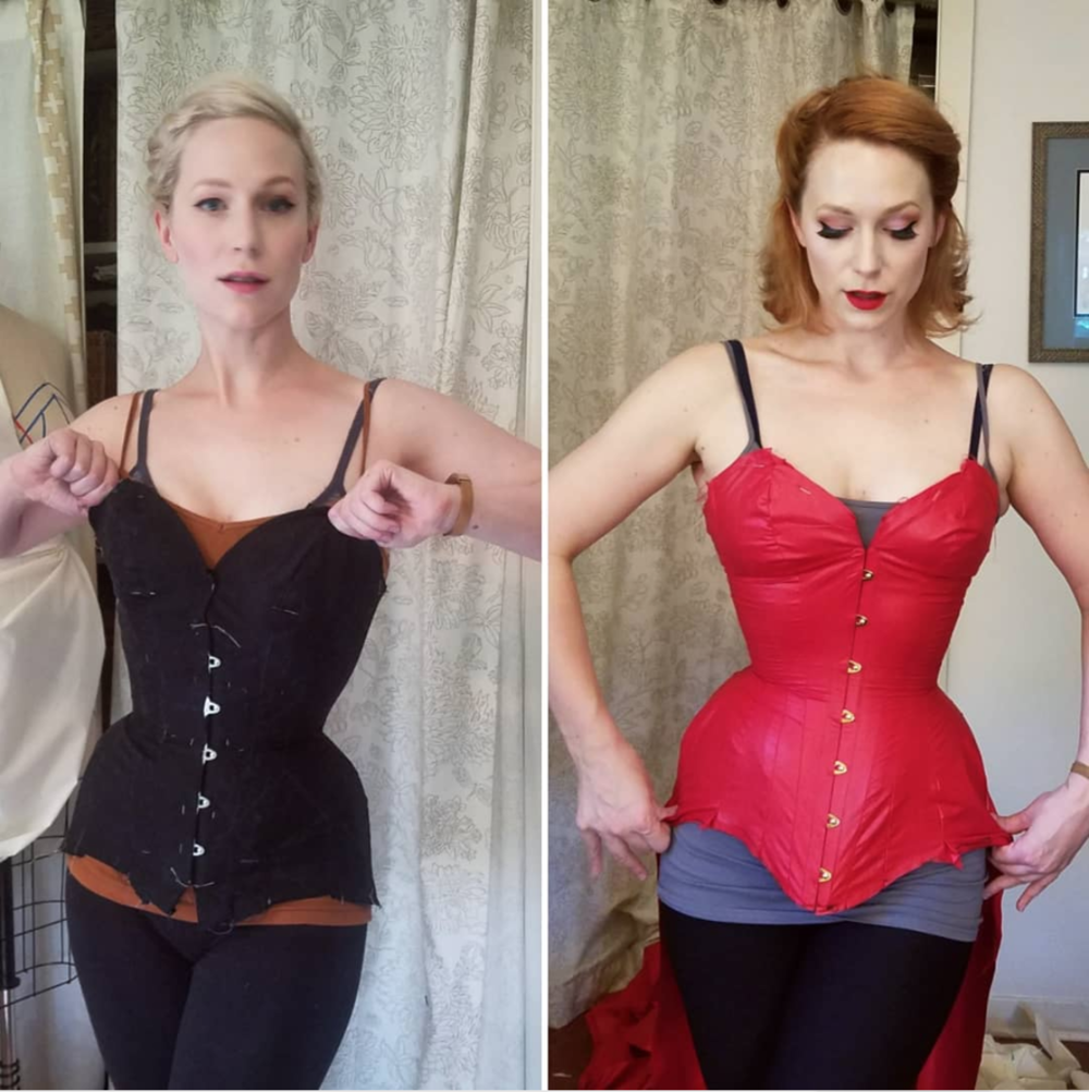 Jane's progress with her corset from last year's design,  detailed on Instagram