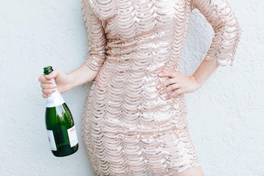 Champagne Crochet Dress