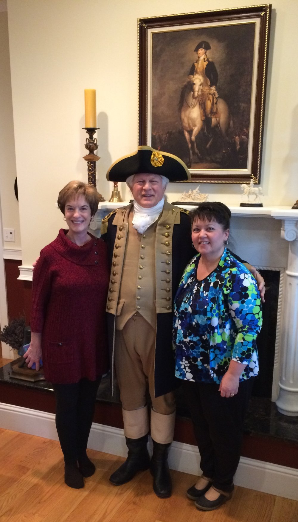 President Washington entertaining his guests. Wife Lois is on the left.