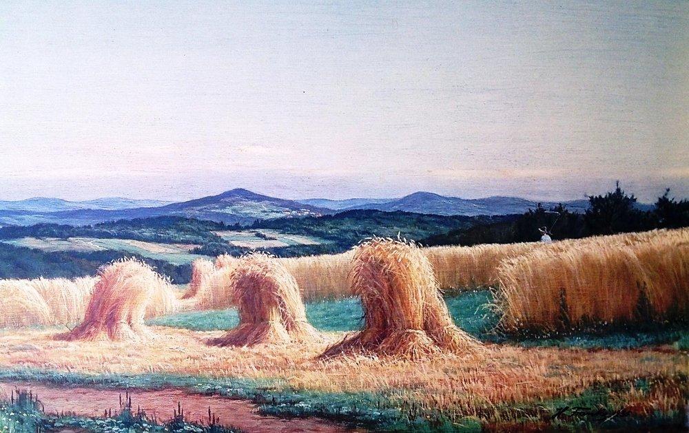 Hans Franke (1935), Harvest Scene (detail)