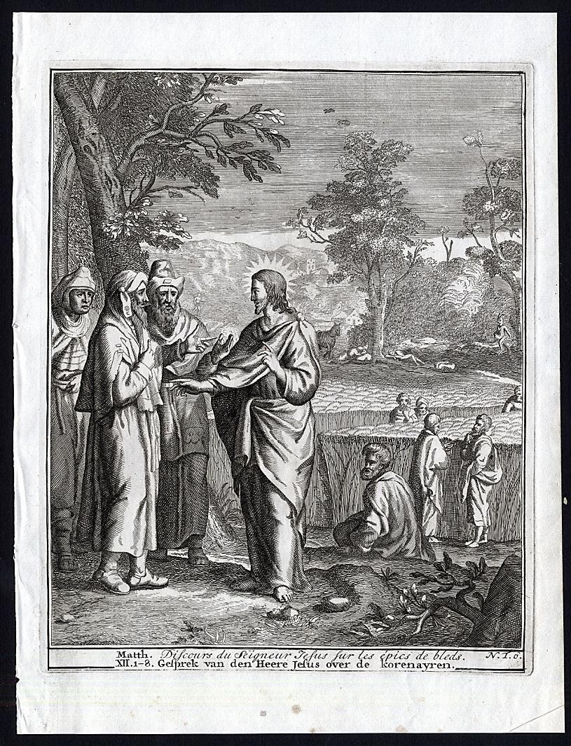 "Mattias Scheits and François Halma, ""Discourse of the Lord Jesus on the Heads of Wheat"";    Tableux de Vieux et Nouveau Testament    (Amsterdam, 1710);   Palouse Regional Studies Collection"